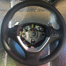 BMW M X5 X6 E70 E71 Steering wheel NEW leather OEM Gear shift vibrating