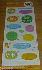 Hallmark Stickeroni Stickers Word Clouds Bubbles 1 Sheet Free Ship Over $15