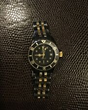 LADIES TAG HEUER VINTAGE 1000 PROFESSIONAL BLACK & GOLD DIVER WATCH ORIGINAL PVD