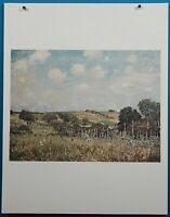 "Alfred Sisley ""Meadow"" Lithograph Print in 50 French Impressionist Masterpieces"