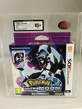 Pokemon Ultra Moon Nintendo Ds Fan Edtion Steelbook Graded 85+ Mint Via Ukg