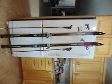 vintage/wooden skis   72   long   with poles nice   as is     # 8381