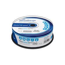 Blu-ray BD-R SL 25GB 6X MediaRange FF InkJet Printable Tarrina 25 uds