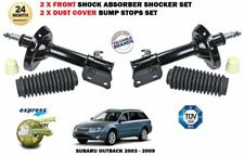 FOR SUBARU OUTBACK 2003-09 2X FRONT LEFT RIGHT SHOCK ABSORBER SHOCKERS + COVERS