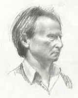 Contemporary Graphite Drawing - Portrait of a Man