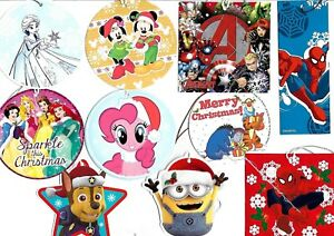 Gift Tags Christmas Birthday Kids - Disney Frozen Princess Avengers Spiderman