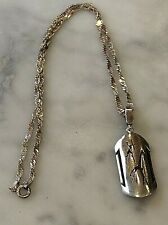Pendant  Giraffe & Chain Sterling Silver Necklace Vintage (104098V)