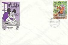 Maldives 1985 Disney FDC  - Mark Twain Quotes series - DI 5376