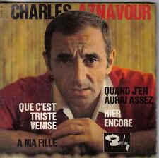 Charles Aznavour-Que Cest Triste Venise vinyl EP single