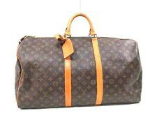 Authentic LOUIS VUITTON Monogram Keepall Bandouliere 55 M41414 Boston Bag VI8904