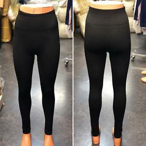 Women Ladies Thermal Thick Fleece Leggings Winter Warm Gym Black free Size 8-20