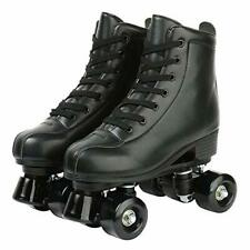 New listing Gets Womens Roller Skates Artificial Leather Adjustable Double Row 4 Wheels R...