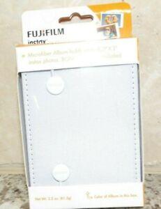 FUJI FILM INSTAX ALBUM- WHITE - HOLDS 8  2 X 3 INSTAX PHOTOS W/ BONUS STICKERS