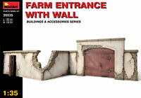 Miniart 35535 - 1/35 Farm Entrance With Wall Building Scale Plastic Model Kit