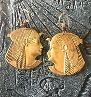Beautiful Vintage Egyptian Revival Style Cleopatra Earrings