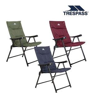 Trespass Folding Garden Padded Deck Chair Paddy