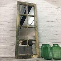 Industrial Vintage Wooden French Window Mirror Kitchen Bathroom