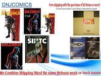 BRZRKR#2 Five  Book Set Cover A - D Regular and FOILS &  1:2 SECRET VAR NM