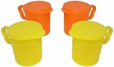 TUPPERWARE COFFEE MUGS/ CARIBBEAN COFFEE MUGS WITH TOP COVERS (SET OF 4 PCS)