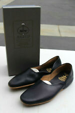 BROOKS BROTHERS PEAL & CO MENS BLUE NAPPA SLIPPERS MADE IN ENGLAND SIZE 11.5 D