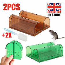 2PC Mouse Trap Humane Live Catcher Rat Vermin Rodent Cage Pest No Kill Reusable