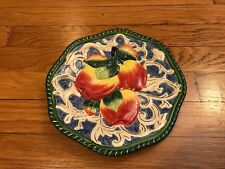 "Fitz and Floyd 9"" Classics Florentine Fruit Apples Plate- Excellent condition"
