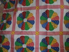 Barn farm cottage chic Ginghan calico flower quilt print novelty fabric material