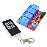 5V 4-Channel Infrared Receiver Module Relay Driver Board + Remote Controller