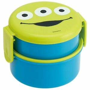 Skater Disney Alin Face 2 Layers Bento Lunch Box Food Container with Fork