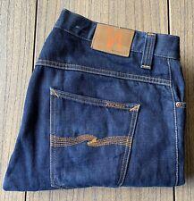 Nudie Jeans Men's Hank Rey Straight Leg Button Fly Jeans Sz 36x34