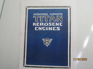 IHC Titan Sideshaft Kerosene Engine Catalog