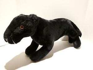 "J1 Vintage Dakin Pillow Pets 1978 Black Panther Plush Jaguar 20"""