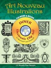 Art Nouveau Illustrations CD-ROM and Book (Dover Electronic Clip Art)-ExLibrary
