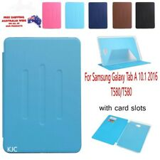 Samsung Tab A 10.1 2016 T580 T585 Tablet Case Card Slot Flip PU+TPU Slim Cover