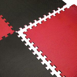 CAP Barbell Red/Black Reversible Puzzle Exercise Mat