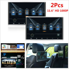 "2X Android 7.1 WIFI 3G/4G HDMI 11.6"" Car Headrest Rear Seat Monitor Touch Screen"