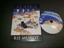 Anchorage Skyline Abstract Watercolor Painting Alaska Art Print by Artist DJR
