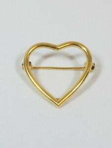 Vintage 14k Gold Italy Heart Pin Broach Delicate Minimalist