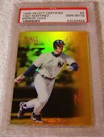 TINO MARTINEZ 1996 SELECT CERTIFIED MIRROR GOLD #2 ONLY 30 PRODUCED PSA 10 POP 2