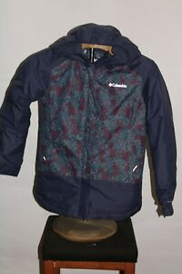 COLUMBIA BOYS medium M insulated Omni-Heat hooded Snowboard/snow Jacket
