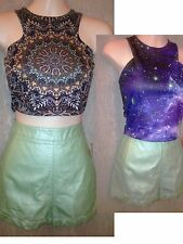 New Lot3 Forever 21 Pleather HiWaist Shorts Joyce Leslie & Nollie Tops Jrs Sz Sm