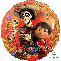 "Disney Coco Miguel Hector Birthday Party Decorations Mylar Foil Balloon 18"""