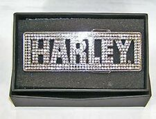 Harley-Davidson Clear Crystal Font Jeweled BLING Belt BUCKLE HDWBU10086-CRY
