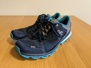 On Cloudsurfer Mens UK10 Running Shoes - Blue