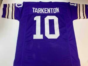 Fran Tarkenton Jersey Custom Unsigned Stitched Minnesota Purple Jersey Size XL