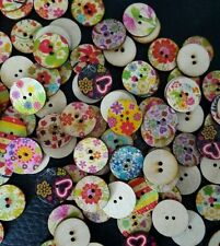 Wooden Crafts Round Sewing Buttons