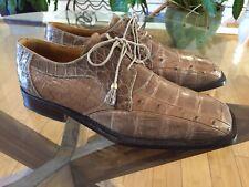 Crocodile Ostrich Shoes David Eden Exotics Sz 9
