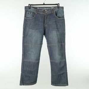 Speed and Strength Reinforced Seat Double Knee Jeans Mens 38x30 Blue Dark Wash