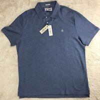 Men's PENGUIN Captains Blue Purple Polo Shirt XL NWT NEW Classic Fit Nice!