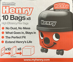 For Numatic Henry NVM-1CH Hepa-Flo Cleaner Full Box 80 x Vacuum Hoover Bags Only
